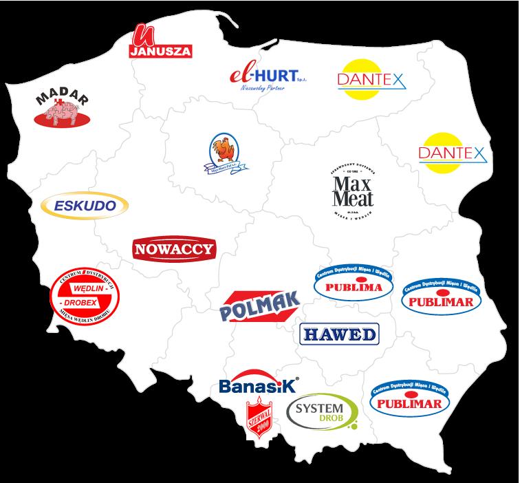 mapa dystrybutorów unia-meat